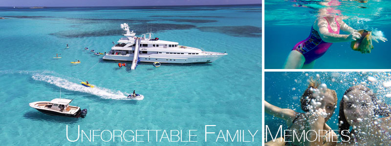 unforgettable family yacht charters